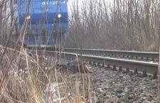 Autoturism lovit de tren la Roşiorii de Vede