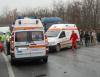 Ambulanţă, implicată în accident